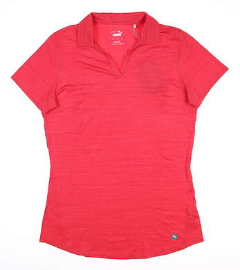 New Womens Puma Cloudspun Free Polo Small S Teaberry MSRP $60 597695 21