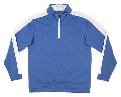 New Mens Puma Cloudspun 1/4 Zip Pullover Medium M Federal Blue MSRP $75 599129 10