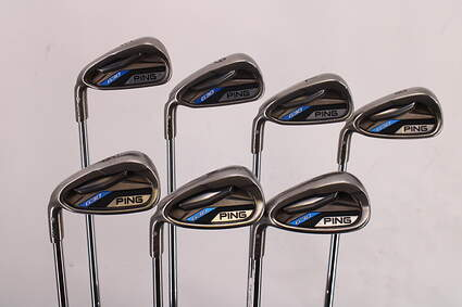 Ping G30 Iron Set 5-PW GW KBS Tour 130 Steel X-Stiff Left Handed Silver Dot 38.5in