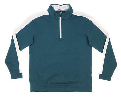 New Mens Puma Cloudspun 1/4 Zip Pullover Medium M Deep Teal MSRP $75 599129 11