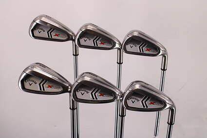 Callaway 2013 X Hot Iron Set 5-PW Callaway X Steel Steel Uniflex Right Handed 38.25in
