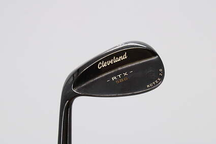 Cleveland 588 RTX 2.0 Black Satin Wedge Sand SW 56° 12 Deg Bounce Cleveland ROTEX Wedge Steel Wedge Flex Left Handed 35.25in