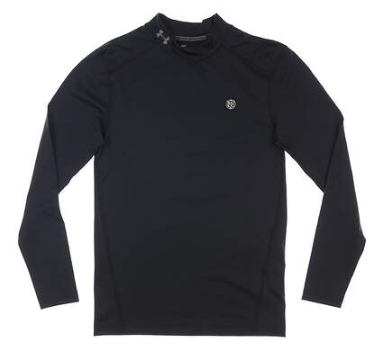 New W/ Logo Mens Under Armour ColdGear Base Layer Small S Black MSRP $60 UM9431