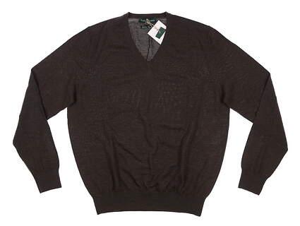 New Mens Fairway & Greene Merino Classic Sweater Small S Brown MSRP $140 A11140