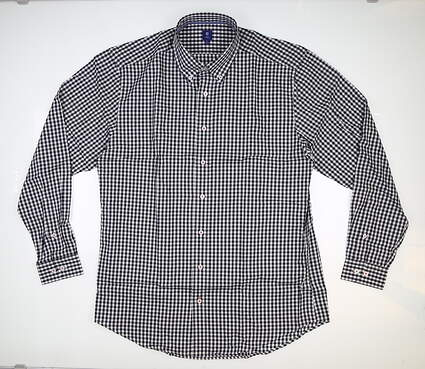 New Mens Footjoy Gingham Button Down Large L Multi MSRP $145 26468