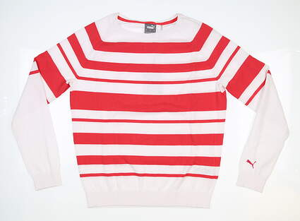 New Womens Puma Ribbon Sweater Small S Teaberry MSRP $80 599268 04