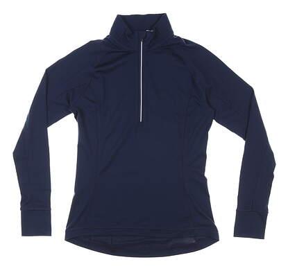 New Womens Puma Rotation 1/4 Zip Pullover Small S Navy Blazer MSRP $65 577943 15