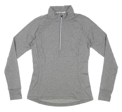 New Womens Puma Proven 1/4 Zip Pullover Small S Gray MSRP $65 577943 02