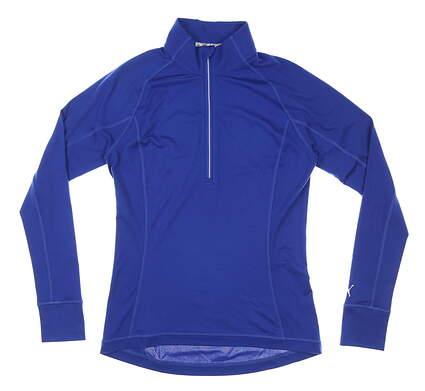 New Womens Puma Rotation 1/4 Zip Pullover Small S Mazarine Blue MSRP $65 577943 19