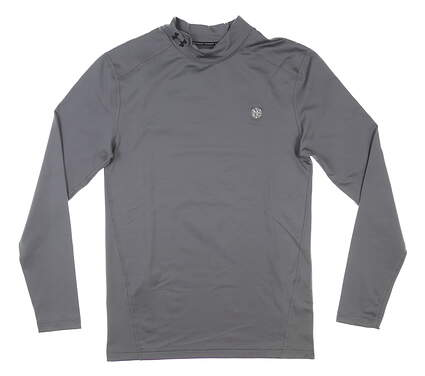 New W/ Logo Mens Under Armour ColdGear Base Layer Small S Gray MSRP $60 UM9431