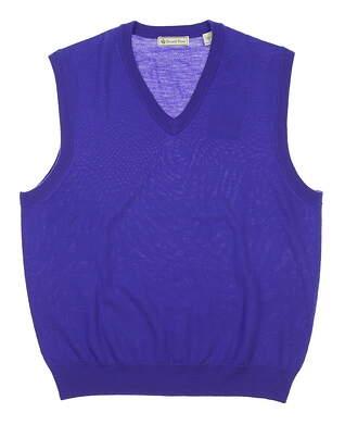 New Mens DONALD ROSS Sweater Vest Medium M Purple MSRP $115 DR-002