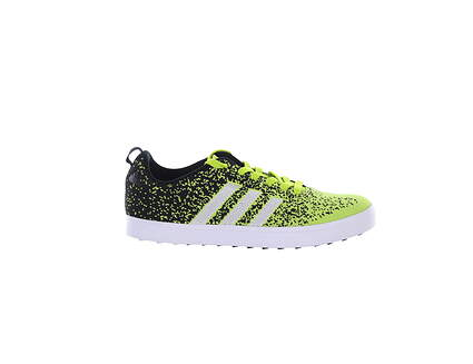 New Mens Golf Shoe Adidas Adicross Primeknit Medium 9 Black/Green MSRP $115 F33352