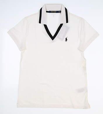 New Womens Ralph Lauren Golf Polo Medium M White MSRP $89