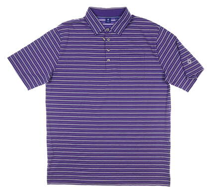 New W/ Logo Mens Footjoy 1857 Collection Golf Polo Large L Purple MSRP $145 26056