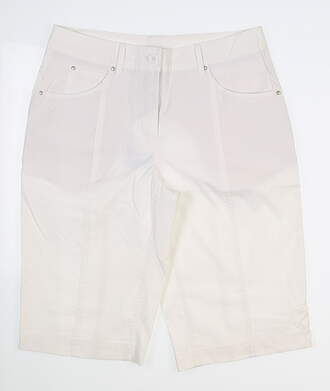 New Womens Nivo Sport Golf Shorts 10 White MSRP $50