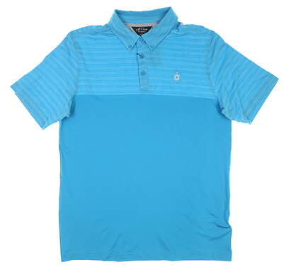 New W/ Logo Mens Adidas Golf Polo Large L Blue MSRP $120 DX9881