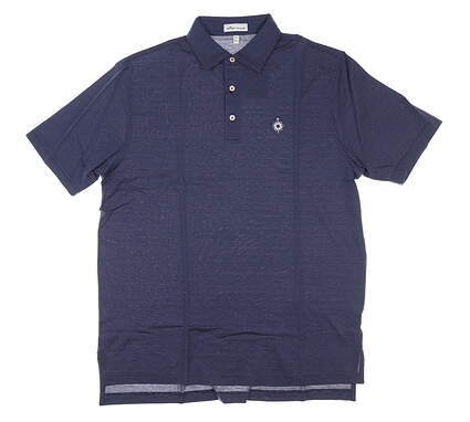 New W/ Logo Mens Peter Millar Golf Polo Medium M Navy Blue MSRP $98 MS19K07S