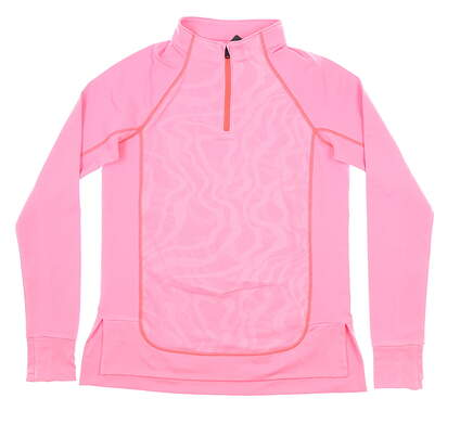New Womens Under Armour 1/4 Zip Golf Pullover Small S Pink MSRP $70