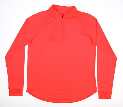 New Womens Under Armour 1/4 Zip Golf Pullover Small S Orange MSRP $70