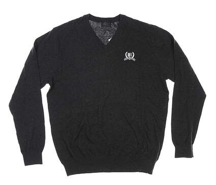 New W/ Logo Mens Greg Norman Sweater Large L Gray MSRP $100