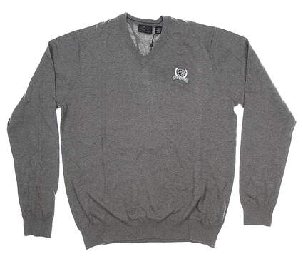New W/ Logo Mens Greg Norman Sweater Large L Gray MSRP $99