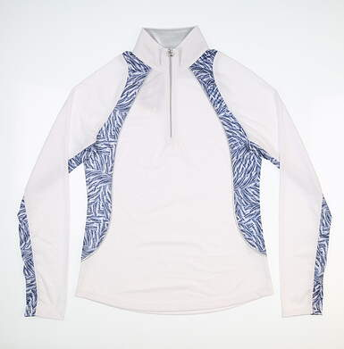 New Womens Greg Norman 1/4 Zip Golf Pullover Small S White MSRP $85 G2S9K901