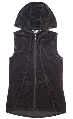 New Womens Greg Norman Hooded Vest Small S Gray MSRP $99 G2F8J760