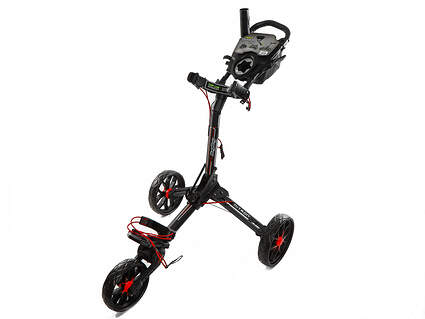 New Bag Boy Nitron Auto-Open Push and Pull Cart Matte Black/Red (Ships Today)!