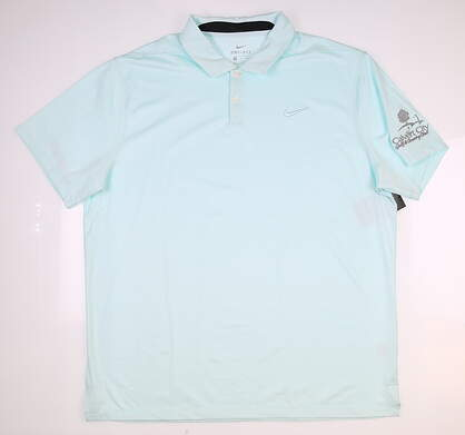 New W/ Logo Mens Nike Golf Polo X-Large XL Blue MSRP $85 AT8870-336