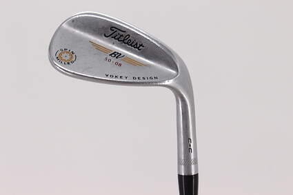 Titleist Vokey Spin Milled CC Chrome Wedge Gap GW 50° 8 Deg Bounce True Temper Dynamic Gold Steel Stiff Right Handed 37.0in