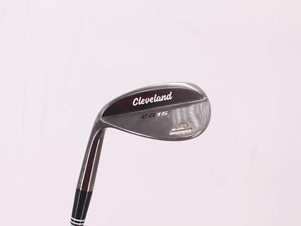 Cleveland CG15 Black Pearl Wedge Gap GW 50° 10 Deg Bounce Cleveland Traction Wedge Steel Wedge Flex Left Handed 34.75in