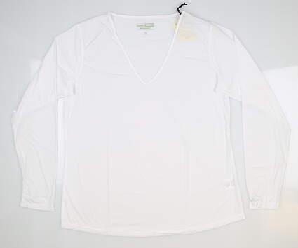 New Womens Jamie Sadock Long Sleeve Medium M White MSRP $60 61127