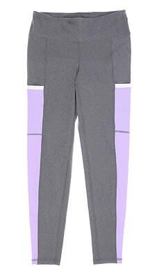 New Womens Footjoy Ankle Leggings Medium M Gray/Purple MSRP $89 23913
