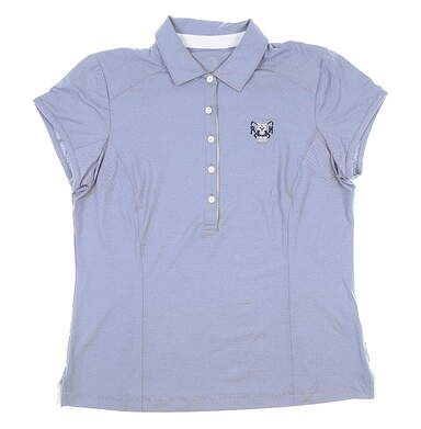 New W/ Logo Womens Zero Restriction Holly Polo Large L Blue MSRP $85 0722L
