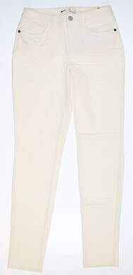 New Womens Nike Golf Pants 0 Ivory MSRP $100 AT3327-133