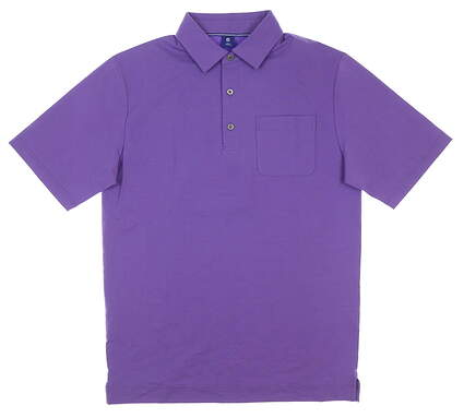 New Mens Footjoy 1857 Lisle Chest Pocket Polo Small S Purple MSRP $135 26046