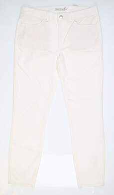 New Womens Peter Millar Plush Corduroy Pants 8 White MSRP $129 LF19B49