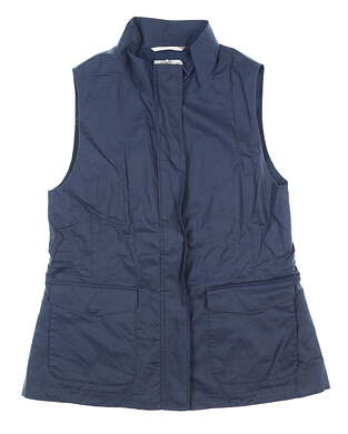 New Womens Peter Millar Francine Lined-Blend Vest Medium M Navy MSRP $239 LS20Z03