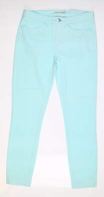 New Womens Peter Millar Karlie Plush Twill Pants 8 Blue MSRP $109 LS20B46