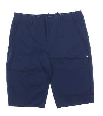 New Womens Ralph Lauren Golf Shorts 2 Navy Blue MSRP $98
