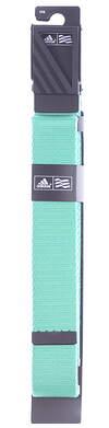 New Adidas Mens Webbing Golf Belt OSFM Bright Green MSRP $20