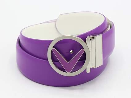 New Womens Callaway Golf Belt Size Medium Purple MSRP $40