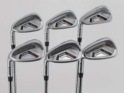Ping I25 Iron Set 6-PW GW Ping CFS Steel Stiff Left Handed Black Dot 37.25in