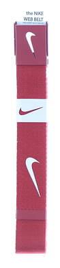 New Mens Nike Golf Belt OSFM Red MSRP $26