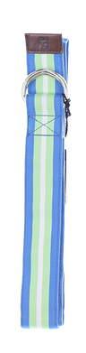 New Mens Footjoy Ribbon Golf Belt Medium Blue/Green/White MSRP $29