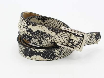 New Womens Peter Millar Snake Skin Golf Belt L/XL MSRP $109