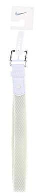 New Womens Nike Stretch Golf Belt Medium White MSRP $36