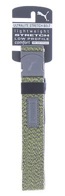 New Mens Puma Ultralite Stretch Golf Belt OSFM Acid Lime Heather MSRP $26