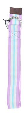 New Mens Footjoy Ribbon Golf Belt Large Purple/White/Blue MSRP $29