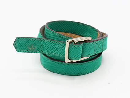 New Womens Peter Millar Golf Belt L/XL Teal MSRP $109